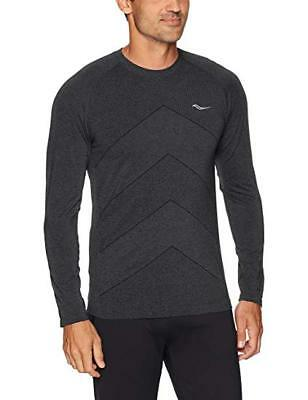 435d3c87 SAUCONY MENS DASH Seamless Long Sleeve Shirt Lakeside Heather Large ...