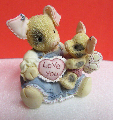 This Little Piggy I'LL LOVE YOU 'TILL PIGS FLY TLP Valentine Pig Enesco Figurine