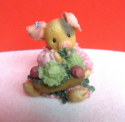 This Little Piggy SOW LUCKY St. Patrick's Day Cabbage TLP Pig Enesco Figurine