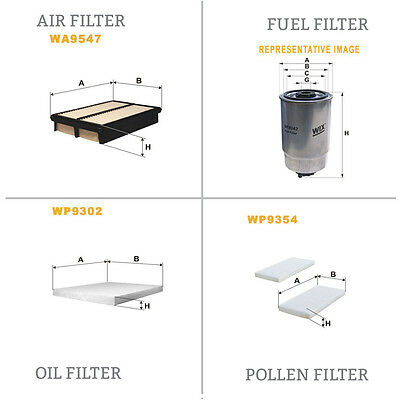 WIX Air le Pollen Huile & Carburant Kit Filtre WA9547,WP9354,WL7462,WF8395