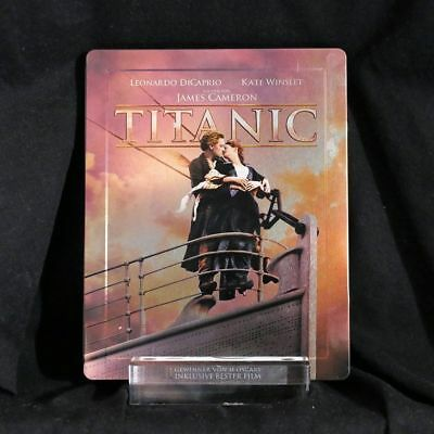 Blu-RAY: Titanic 3d + 2d STEELBOOK LIKE NEW Limited sublime heavy weight