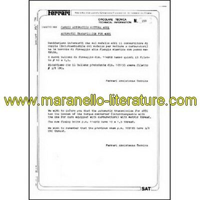 1979 Ferrari technical information n°0350 (Automatic transmission for 400i) (rep