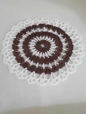 Chocolate in White Bumblebee doily Approximately 5 Inches.