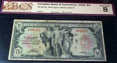 Canadian Bank Of Commerce 1935 $5