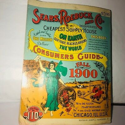 Vintage 1900 Sears and Roebuck Little Catalog-Reproduced In 1970 and Sold by Sea