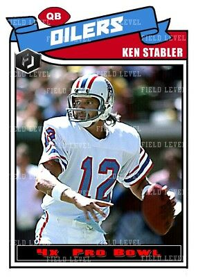 premium selection 60582 6b04e ACEO KEN STABLER Houston Oilers Custom Hand Made Art Card