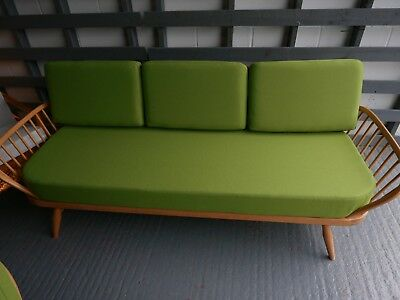 Cushions & Covers Only. Ercol Studio Couch/Daybed.  Lime Green