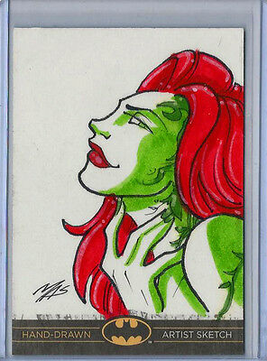 Poison Ivy Batman:The Legend 2013 Cryptozoic DC Sketch Card by Marcus Smith 1/1