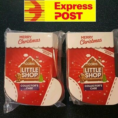 2 X Coles Little Shop Collector's Case Christmas Edition EXPRESS POST
