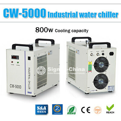 60Hz-220V-0.52HP-S&A CW-5000BG Water Chiller for 80/100W CO2 Glass Laser Tube