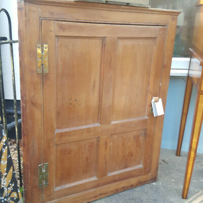 Large Antique Victorian Pine Corner Cabinet Wall Hanging Farmhouse Cupboard