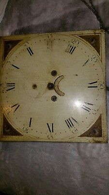 Old Grandfather Clock Movement & Dial only