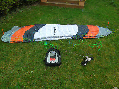 Radsail Pro 4.0 Kite with bag, lines, handles and pegs - good begineer land kite