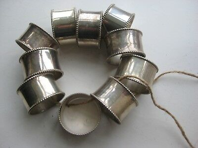 napkin rings 10 silver plate