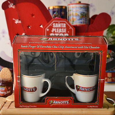 Arnotts Scotch Finger Biscuit & Mugs w/ 2 Drinking Cups New Never Used in Box