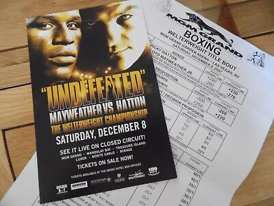 Ricky Hatton v Floyd Mayweather Flyer & MGM Grand  betting odds for the fight