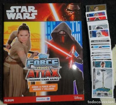 Album Star Wars Topps Force Attax Tradding cards game + 120 cromos: Completo,