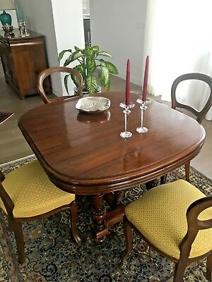 French wooden table (walnut) 19th century 4/10 people