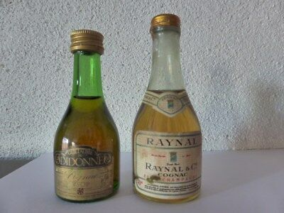 old mini bottle cognac RAYNAL et cognac DIDONNE   mignonnettes de collection