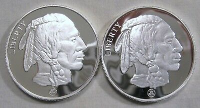Lot of 2 - 1 oz Silver Rounds .999 Fine