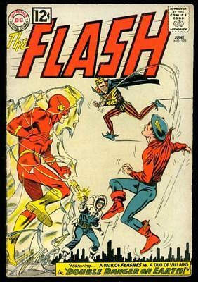 The Flash #129  Vg  (Water Back Cover)