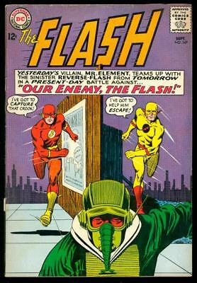 The Flash #147  Vg/vg+  (Light Water, Foxing, Bottom Staple Detached)