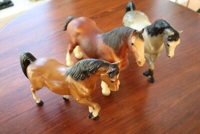 Vintage Breyer Horses Lot of 3. Appaloosa, Bay and Clydesdale.