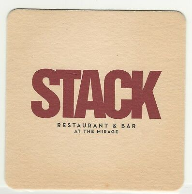 Mirage Casino, Las Vegas, Vintage Coaster, Stack Restaurant & Bar