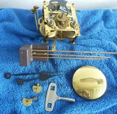 Urgos Time And Strike Wall Clock Movement With Chime Rods