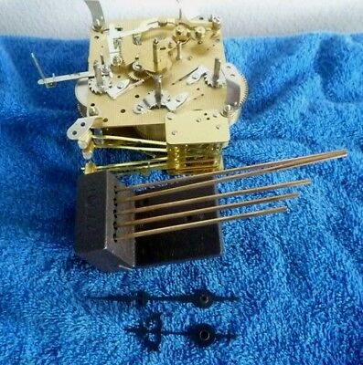 Hermle Westminster Chime Shelf Clock Movement With Chime Rods