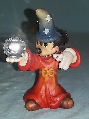ANRI Mickey Mouse The Sorcerer Apprentice, Walt Disney, Woodcarving, Italy, #406