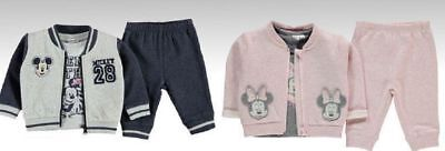 Disney Baby boys girls joggers jacket and top Mickey Minnie mouse baby 3 pc set