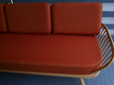 Cushions & Covers Only. Ercol Studio Couch/Daybed.  Terra Cotta 92% wool