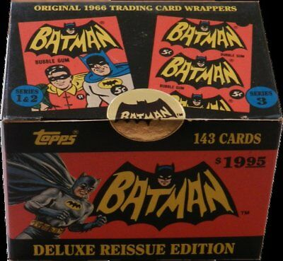 1966 Topps Batman Reissue Factory Sealed Set 1966 All 3 Series (Issued 1989)
