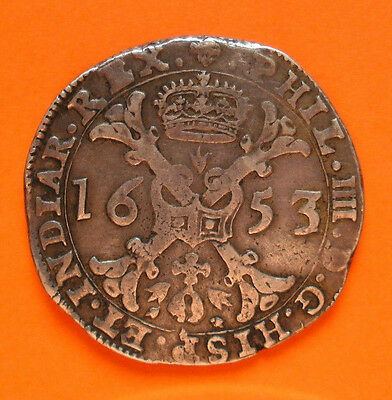 SILBER-MÜNZE > Duchy of Brabant,  Philip IV of Spain, Patagon, 1653