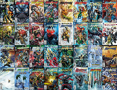 DC New 52 AQUAMAN Complete Geoff  Johns Lot Movie Source Material 1st Prints