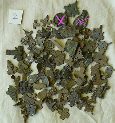 Metal detector finds.Mix lot  ancient crosses (The age of 12-19) N62