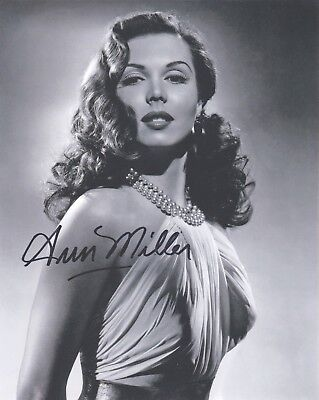 Signed Original B&W Photo of Ann Miller of 1940's Films