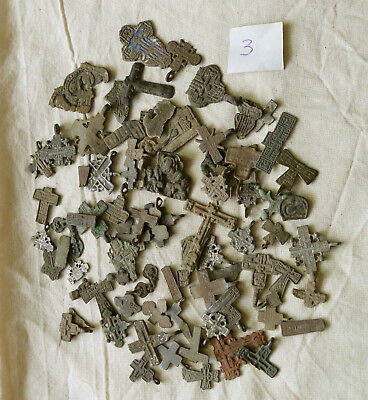 Metal detector finds.Mix lot  ancient crosses (The age of 12-19) N63