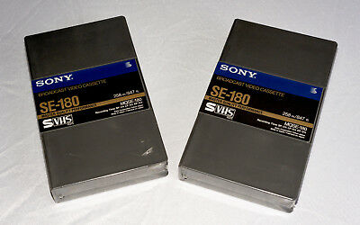 Sony MQSE-180 SVHS Broadcast Standard Video Tape Cassette Sealed Unused - Two