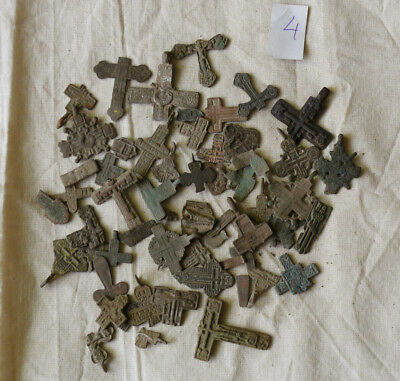 Metal detector finds.Mix lot  ancient crosses (The age of 12-19) N64