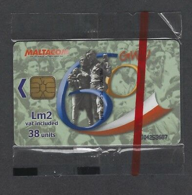 Malta 2003 Mint Sealed General Workers Union Lm2 Telecard Phonecard Chip kaart