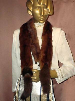 1930s 1940s Stone Martin Mink Marmot Old Hollywood Stole With 3 Pelts