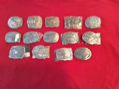 14 Different Youth Hesston National Finals Rodeo  Belt Buckles
