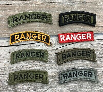 Lot of 8 US Army Cloth Ranger Tabs.
