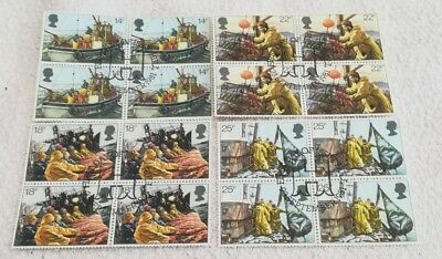 1981 Fishing Industry Fine Used in Blocks of 4 as shown