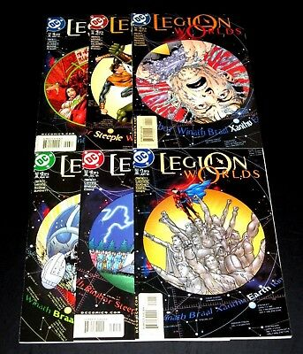 Legion Worlds #1-6 (2001) Vf/nm Full/complete Series Dc Comics