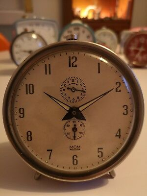 Vintage Red Alarm Clock by MOM - Made in Hungary - 1950/60's Mid Century