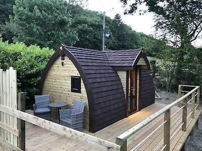 Camping Pod In Cenarth West Wales with Hot Tub