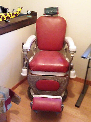 Vintage Antique Barber Chair As Is -Manuractured by Theo-A-Kochs' Company